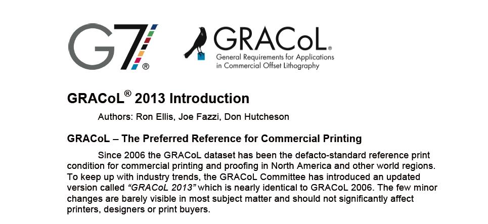 印刷标准GRACOL2006和GRACOL2013的差异