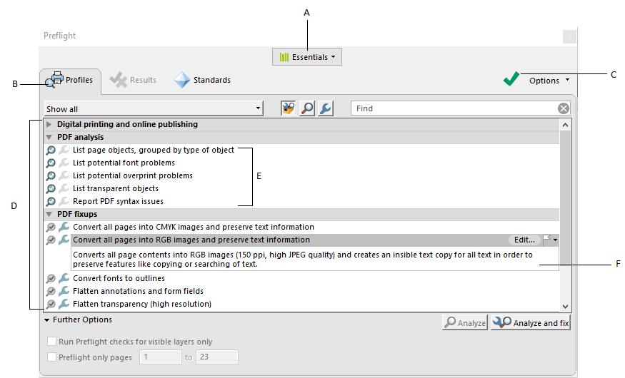 关于PDF印前检查(预飞)