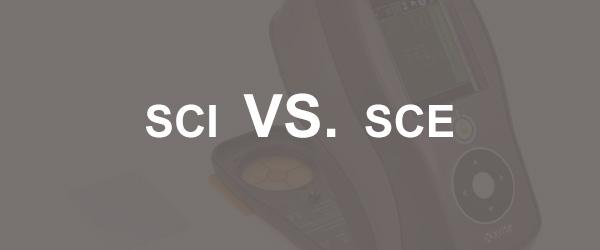 颜色测量中的SCI和SCE(包含&排除镜面)
