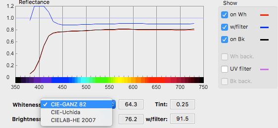 BabelColor中白度测量支持的三种公式