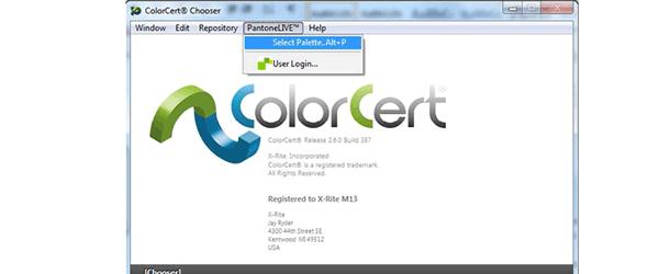 激活ColorCert软件中的PantoneLive功能