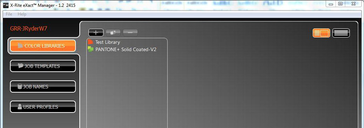 eXact Manager软件中激活PANTONELIVE许可